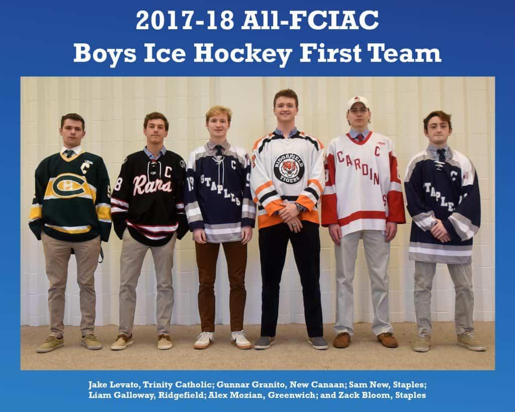 All-FCIAC Boys Ice Hockey Team