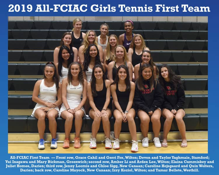 All-FCIAC-2019-Girls-Tennis-Team